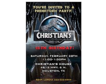 Jurassic World Birthday Invitation - printable or Printed