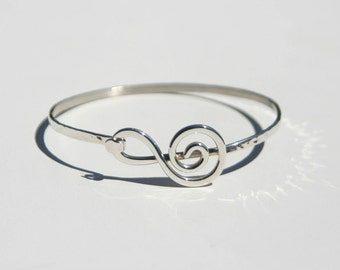 Sterling Silver G-Clef Bracelet