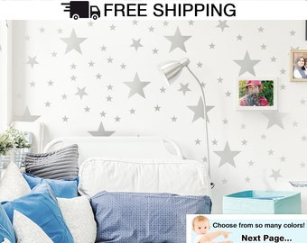 Mixed Stars Wall Decal Stickers, Star Decals for Kids Room, Baby Nursery Wall Decals, Stars Wall Stickers, Stars Wall Decals - By Todeco