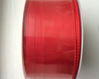 """New Red Satin Ribbon 1"""" (25 mm) wide x 5 yards (4.57 m) long by Michaels"""