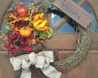 "18"" Fall Wreath"