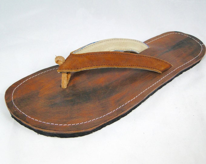 FREE SHIPPING - Handmade Leather Flip Flop Sandals for Men - Fair Trade product from Honduras