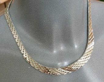 Antique necklace 60s 835 silver necklace SK763