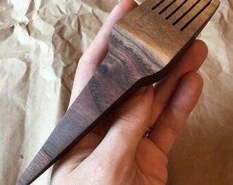 Medium Walnut Weaving Comb