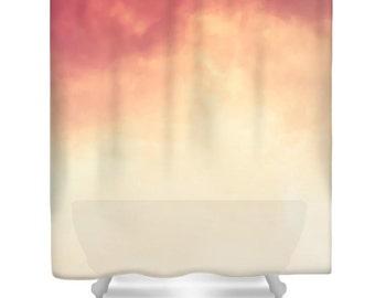 Peach Shower Curtain Etsy