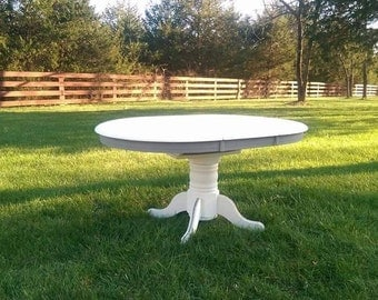 Painted Pedestal Dining Table