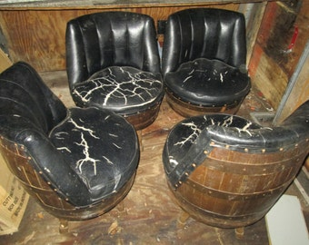 Whiskey barrel swivel chair need to be recovered