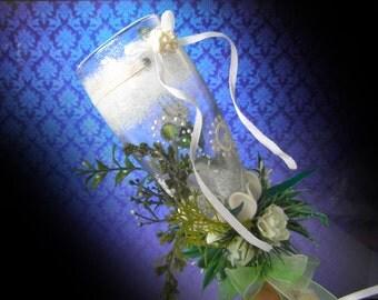 decoration of wedding glasses