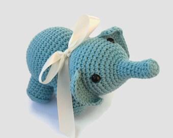Stuffed Elephant, Crochet Elephant, Crochet Baby Toy, Baby Shower Gift, Elephant Toy, Toddler Gift, Elephant Stuffed Animal, New Baby Gift