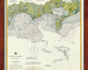 0402-Hyannis Harbor Nautical Chart 1896