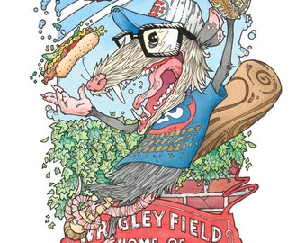 Chicago Wrigley Field Concert Poster (Signed & Numbered Limited Edition of 75)