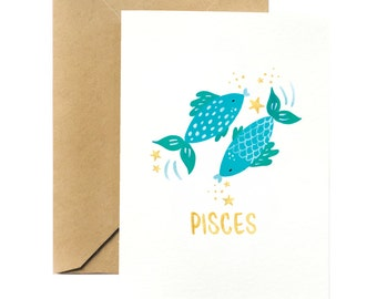 Birthday Greeting Card | Pisces Horoscope