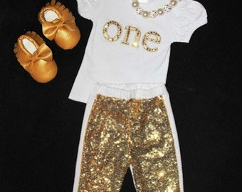 ONE- Birthday Sequin Outfit