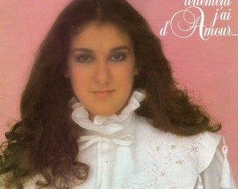 Vintage 1982 CELINE DION First french album Vinyl record 33 rpm Tellement j'ai d'amour... song in French Audiophile