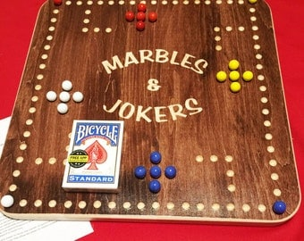 Marbles and Jokers 4 Players game