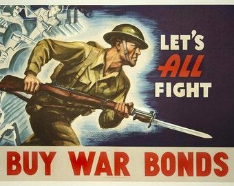 War Bonds, Vintage  Ad , Metal Sign,  No.615