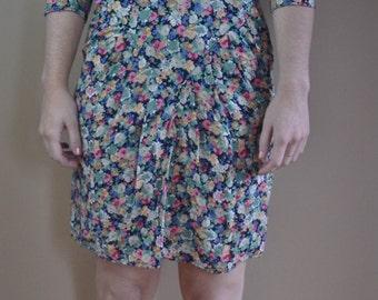 Vintage 80s Floral Party Dress