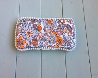 Clearance Orange Purple Flower Paisley, Wipe Case, Baby Wipe Case, Travel Wipe Case, Wipes Case, Wipes Holder, Wipes Container, Baby Gift