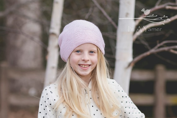 pink slouchy hat womens knitted beanie knit hat womens