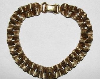 12 kt Gold Filled Jump Ring Charm Bracelet