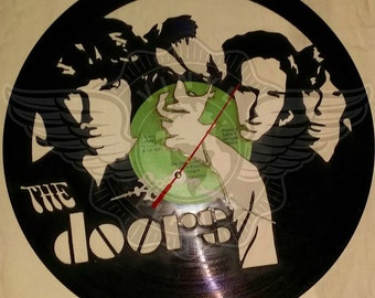 Vinyl Wall Clock THE DOORS
