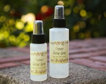 Organic Setting Spray, Makeup Setting Spray, finishing spray, matte finish, moisturizing spray, rose water spray, toning spray, makeup set