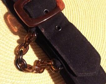 Clearance Vintage clothing belt lucite and blue change belt vintage accessory