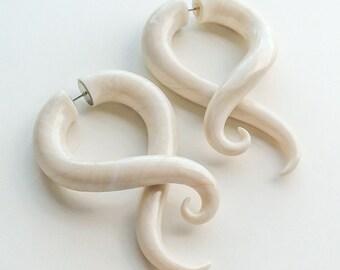 Fake Gauge Earrings, Tentacle Gauges, Ear Gauges, Spiral Plugs, Ear Tapers, Faux Gauges, Fake Plugs, Spital Gauges, Ear Plugs
