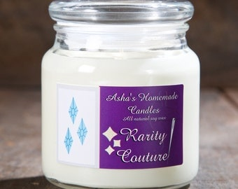 My Little Pony Rarity Couture Soy Candle | 16 oz. | All Natural Soy Wax | Geek Gift Idea