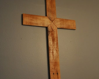 Wooden Cross Made from Reclaimed Wood