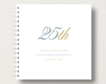 Personalised 25th Silver Anniversary Book or Album