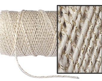 Ivory and Gold Sparkle Everlasto Baker's Twine, Coloured Twine, Gold Twine, Twine, Wedding Decoration