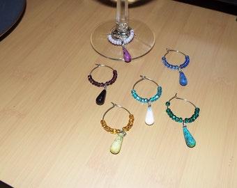 Wine Glass Charms - Set of six