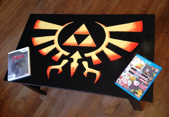 Custom Painted Legend Of Zelda Coffee Table