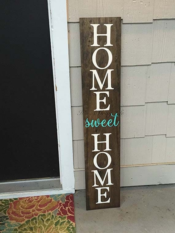 Front porch sign home sweet home sign welcome sign by ...