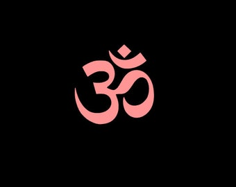 Om Yoga Symbol Vinyl Decal for cars, windows, almost any smooth surface!