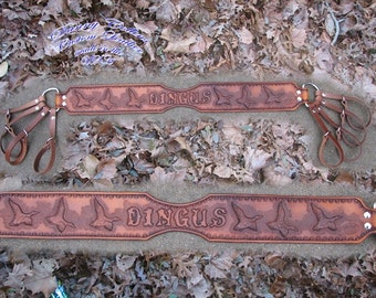 Hand Tooled Duck Lanyards/duck tote/duck strap