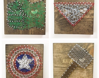 Avengers String Art Boards// Avengers