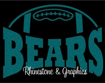 Bears Football Design Pattern Graphic Design Instant Download EPS SVG DXF  Cutting Files Cameo