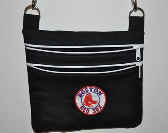 New! Boston Red Sox - Black Fabric Quilted Cross Body Messenger Bag - Tote - Shoulder Bag