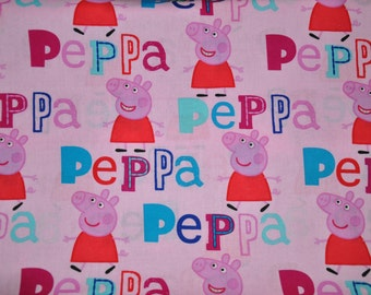 New! Pink - Peppa Pig 100% Cotton Kids Quilt Fabric by Springs Creative