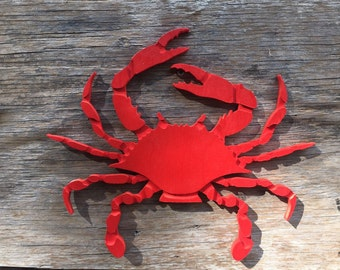 Crab Wooden Wall Art Beachhouse decor Coastal Decor