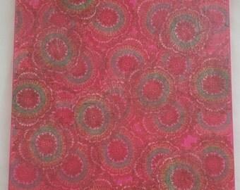 """Bazaar - A 16"""" x 20"""" Contemporary Mixed Media Acrylic Painting"""