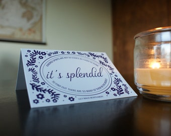 Kindred Spirits Card, It's Splendid Card, Anne of Green Gables Card