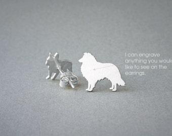 SHETLAND SHEEPDOG NAME Earring - Shetland Sheepdog Name Earrings - Collie Earrings - Dog Breed Earrings - Dog Earring