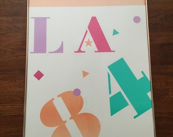 1984 Los Angeles Olympics Framed Poster