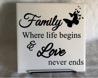 Family Where Life Begins Tile