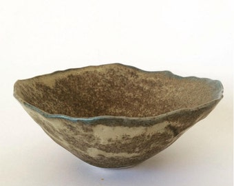 Hand-pinched Egg Shell Bowl