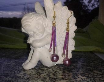 Earrings in miyuki beads