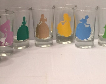 Disney Princesses Shot Glasses